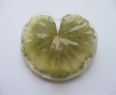 brooch Leaf - sege Lapas