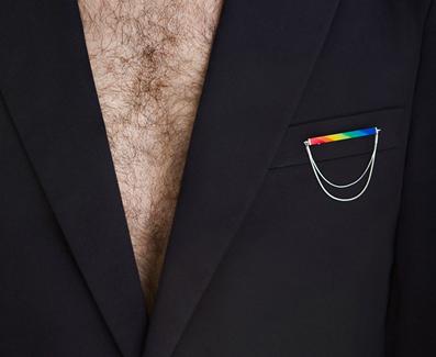 brooch Rainbow - Vaivorykšte